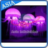 2016 méduses gonflables chaudes de la vente DEL, couleur changeant les méduses légères pour la décoration d'événement