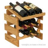 Шкаф вина практически шкафа бутылки полки древесины хранения 9 Tabletop