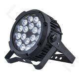 DMX 18X18W RGBWAの紫外線段階ライト平らな屋外LED同価