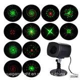 Volledige Hemel die het Openlucht5V Waterdichte Licht van de Laser van de Projectie van de Kerstboom voor de Decoratie van de Partij van de Tuin ontspruiten
