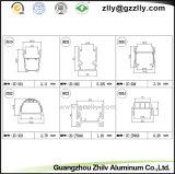 Protuberancia de aluminio/opinión seccionada transversalmente de los perfiles para la luz de la arandela de la pared
