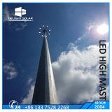 20m HPS 램프 둥근 다각형 폴란드 200W 높은 돛대