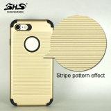 Caja a prueba de choques del teléfono celular del nuevo de las llegadas de Shs de la raya efecto del modelo para el iPhone 7
