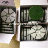 Almofadas de polir de resina de diamante para uso seco em concreto