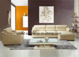 رفاهية جميلة يعيش غرفة [سف/بو] جلد أريكة ([هإكس-فز056])