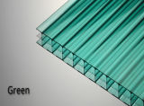 Горячий продавая пластичный покрывать поликарбоната Multiwall листа