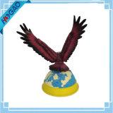 Águia calva americana do topógrafo na decoração da HOME da resina da estátua do Figurine da filial