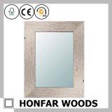 Отделка Brown рамки зеркала стены прямоугольника деревенская деревянная декоративная