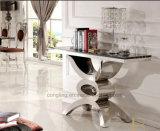 Vidrio que cena el conjunto de los muebles del vector del acero inoxidable