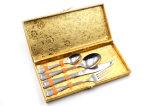 Acero inoxidable del vajilla determinado del servicio de mesa de la cuchillería de 4 pedazos