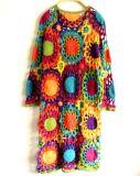 Хлопка руки вязания крючком классицистического сбор винограда длиннее платье 100% вечера