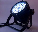 Водоустойчивый свет РАВЕНСТВА 18X10W RGBW PAR64 СИД напольный