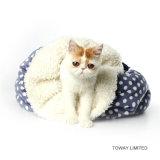 Bâtis chauds blancs de corail d'animal familier de sac de couchage de chat de velours de qualité