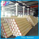 Material PVC fría / caliente laminado Frontlit bandera de la flexión del rodillo (380gsm)