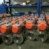 O aço inoxidável pneumático ativo dobro flangeou válvula de esfera com almofada de montagem