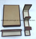 Коробка ювелирных изделий оптовой кожи овец коробки хранения восхитительной деревянная