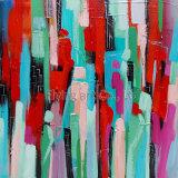 Peinture à l'huile colorée abstraite (ZH3198)