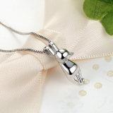 Qualität machen 925 Sterlingsilber-reizende Katze-langes Endstück-Halsketten glatt