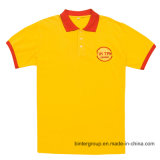 Chemise de polo faite sur commande de coton de taille positive avec la poche