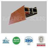 Profil en aluminium en bois d'isolation thermique des graines pour le guichet