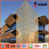 Aluminio revestido de la bobina del PE y de PVDF para la decoración de la pared de cortina (AE-202)