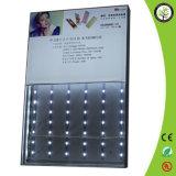 Tissu en aluminium portatif annonçant le cadre d'éclairage LED
