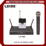 Microfono della radio di frequenza ultraelevata dei canali doppi del microfono di karaoke di Lx-98II