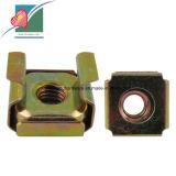 Gelber verzinkter Sprung-quadratische Rahmen-Stahlmuttern (C4804)