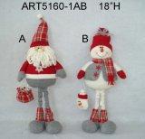 Regalo Treeshaped diritto di natale di Snowman-2asst e della Santa
