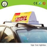 Nuevo tipo rectángulo ligero publicitario hermoso del taxi de la tapa de la azotea de la cartelera