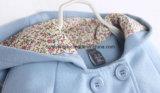 Cappotto blu del condotto del cotone del `S della ragazza