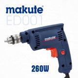 Máquina del taladro de mano de las herramientas de energía eléctrica de Makute 260W 6.5m m (ED001)
