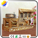 Belle boîte à musique en bois de révolution de temps heureux pour la décoration