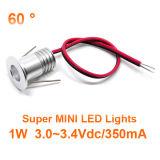60 Grad-1W vertiefte Scheinwerfer dekorative Downlights 3.2VDC/350mA Innendecken-sternenklare Lampen