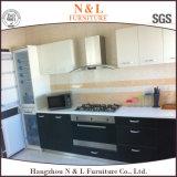 L mobília da cozinha da melamina do gabinete da forma