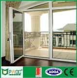 Алюминиевые двойные двери Casement отверстия качания с As2047 (PNOC0015CMD)