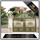 Cancello di giardino di alluminio di colore del metallo rivestito decorativo di potere