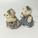 Brinquedo macio enchido de Keychain do urso da peluche da menina da saia luxuoso minúsculo