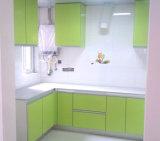 Lacquringの台所デザインのMDFの食器棚