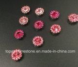2017 naait Nieuwe en Hoogste Kwaliteit 7mm het Plaatsen van de Klauw van de Bloem van het Kristal de Parels van het Glas op Band Strass (tP-7mm al roze rond kristal)