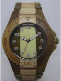 Relógio de madeira do movimento de Japão da prova da água