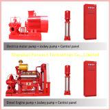 Fase della pompa del fuoco singola dell'azionamento diesel del motore, multi fase, pompa antincendio aperta di /Diesel della pompa ad acqua di lotta antincendio di doppia aspirazione della singola fase con la pompa della puleggia tenditrice