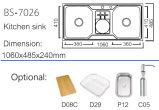 De Gootsteen van de Keuken van het roestvrij staal met Druiprek (BS-7026)