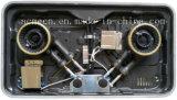Poêle encastré de biogaz de modèle neuf double