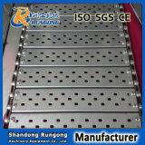 Fabricante de China de banda transportadora perforada conectada placa de la resistencia térmica 304 para el alimento de enlatado