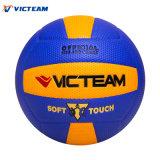 Voleibol de cuero original de la calidad del partido colorido