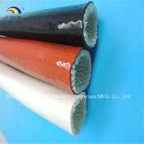 A luva revestida de aço e de vidro do incêndio da fibra de vidro da borracha de silicone da planta para o cabo da fundição protege