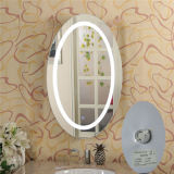 Apartment Villas Vanity Frameless Beveled LED Anti - Fog Oval Illuminated Mirror