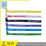 Kundenspezifischer bunter gesponnener Partei-GewebeWristband u. FestivalWristband