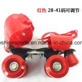 Zapatillas de patinaje de rodillos ajustables de 4 ruedas con bajo precio
